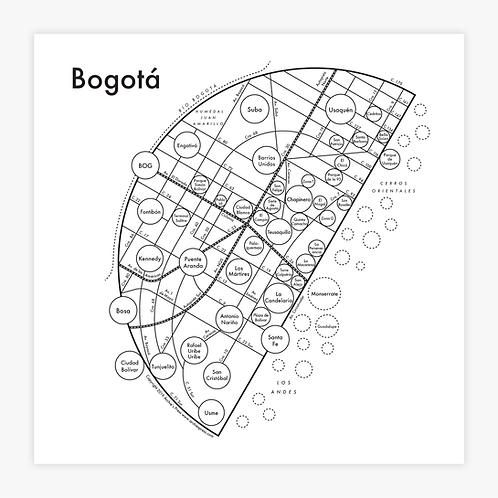 Bogota Letterpress Print