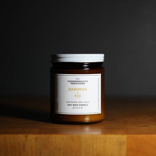 Soy Wax Candle - Oakmoss + Fig