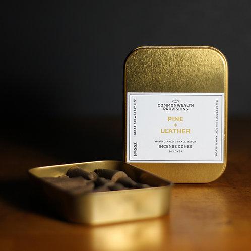 Incense Cones - Pine + Leather
