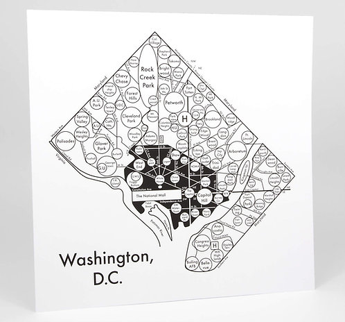 Washington D.C. Letterpress Print