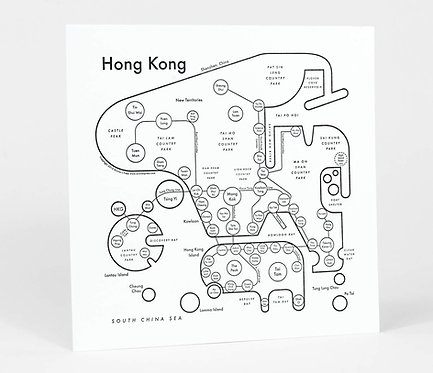 Hong Kong Letterpress Print