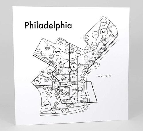 Philadelphia Letterpress Print