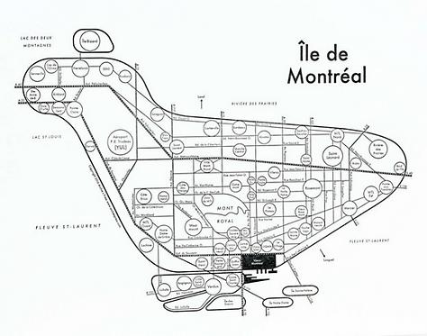 Ile de Montreal Letterpress Print