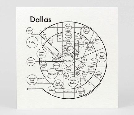 Dallas Letterpress Print