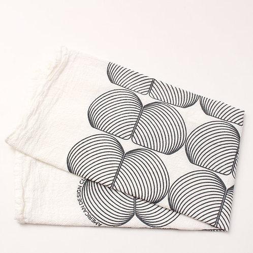 Onion Print Tea Towel - Natural and Grey
