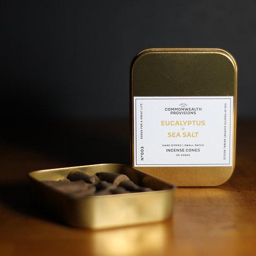 Incense Cones - Eucalyptus + Sea Salt