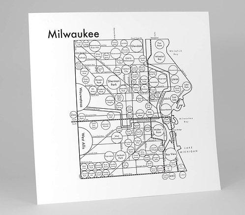 Milwaukee Letterpress Print