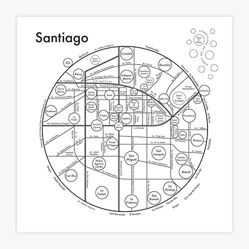 Santiago Letterpress Print
