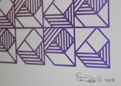 """Quilt Gradient"" Print - by Daniella Trigo"