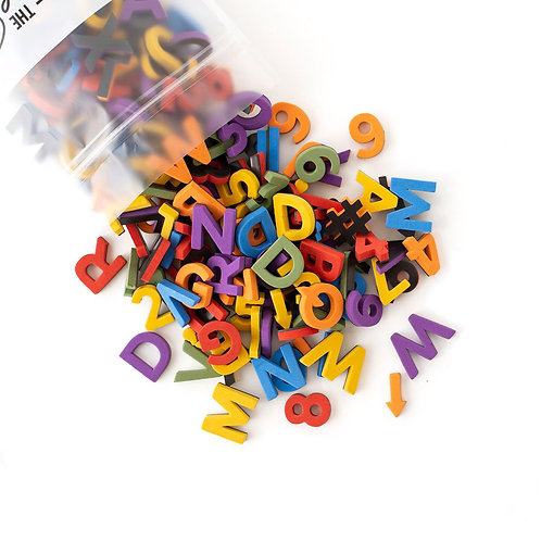Soft Magnetic Letters - Rainbow Chic Sans Serif