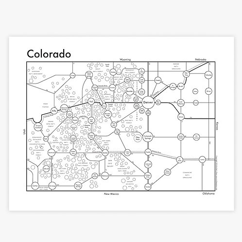 Colorado Letterpress Print