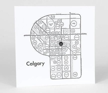Calgary Letterpress Print