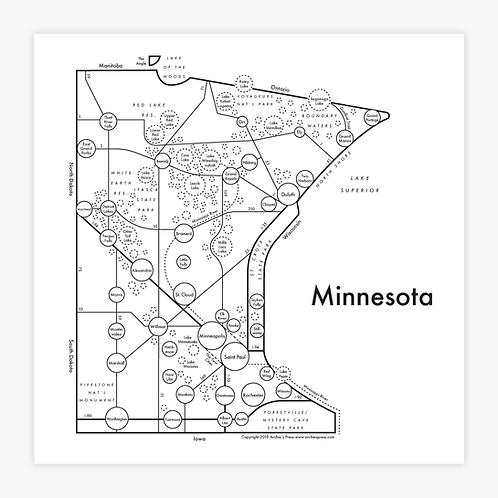 Minnesota Letterpress Print