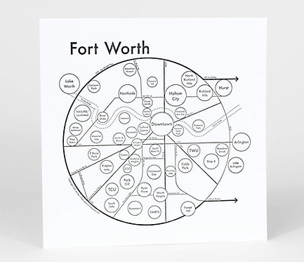 Fort Worth Letterpress Print