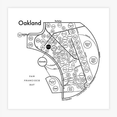 Oakland Letterpress Print