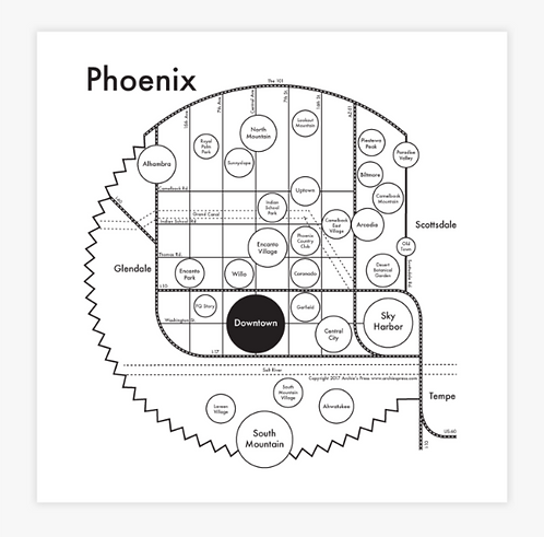 Phoenix Letterpress Print
