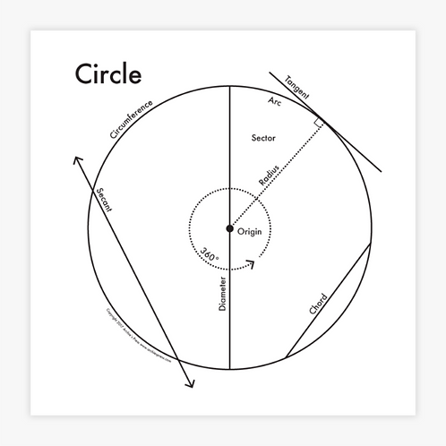 Circle Letterpress Print