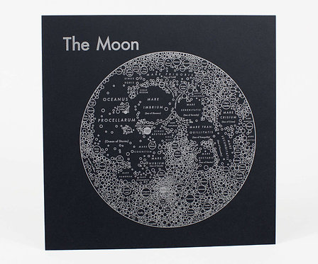 Moon Letterpress Print