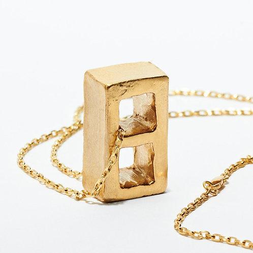 Cinder Block Necklace