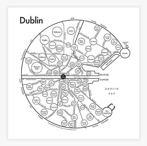 Dublin Letterpress Print