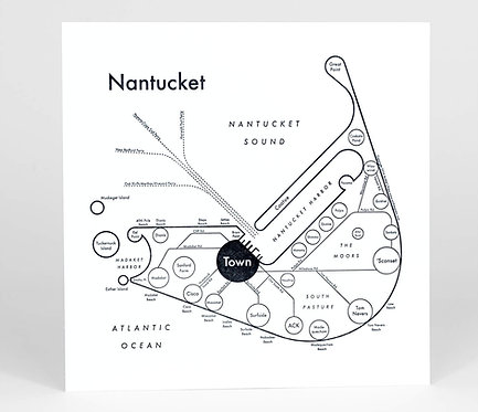 Nantucket Letterpress Print
