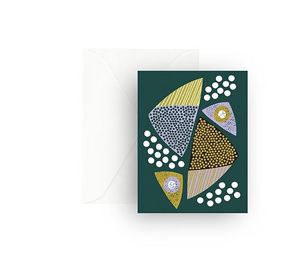 Mid Mod Triangles Greeting Card