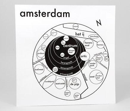 Amsterdam Letterpress Print
