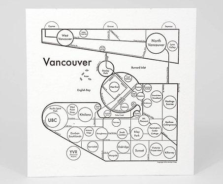 Vancouver Letterpress Print