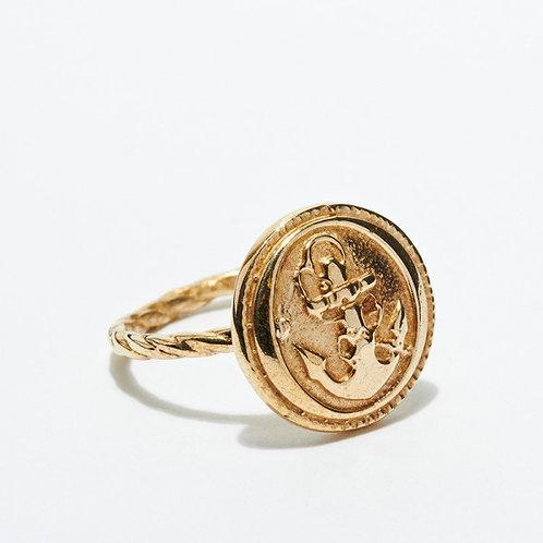 Anchor Button Ring
