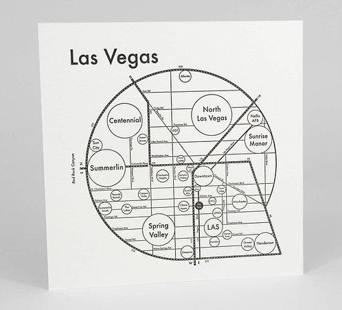 Las Vegas Letterpress Print
