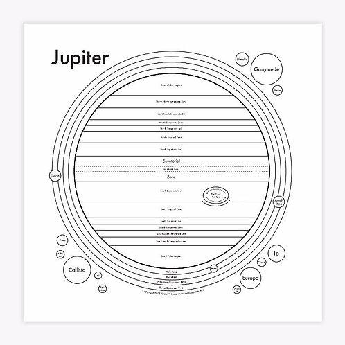 Jupiter Letterpress Print