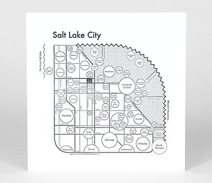 Salt Lake City Letterpress Print