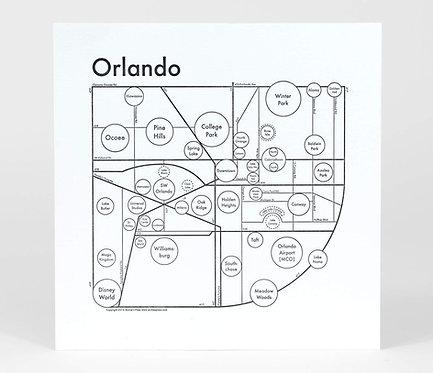 Orlando Letterpress Print