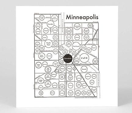 Minneapolis Letterpress Print