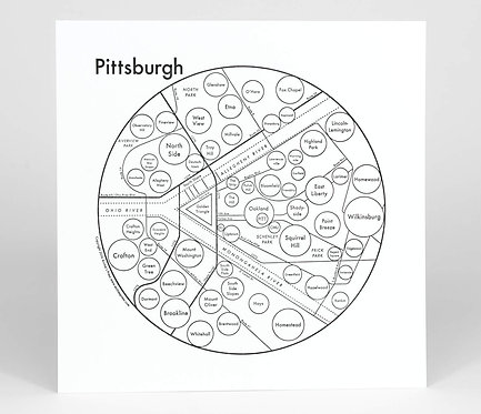 Pittsburgh Letterpress Print