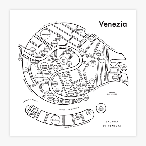 Venezia (Venice) Letterpress Print