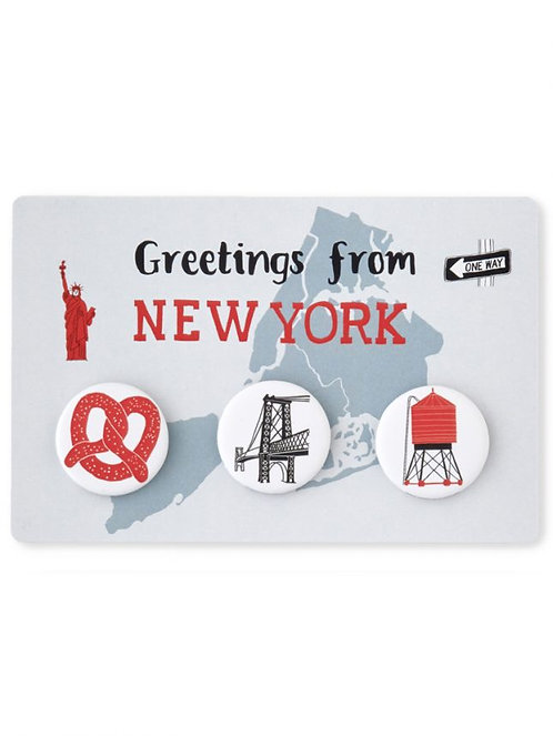 New York Buttons