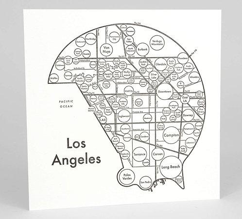 Los Angeles Letterpress Print
