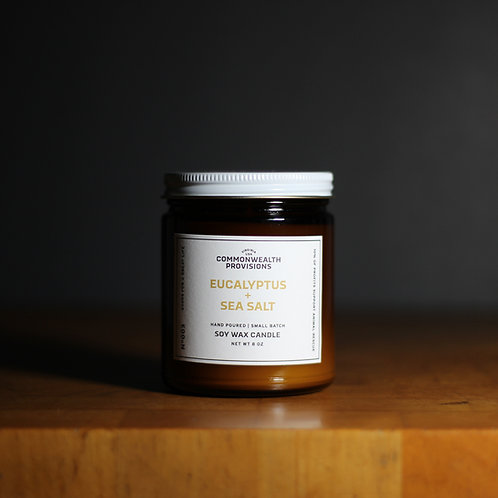 Soy Wax Candle - Eucalyptus + Sea Salt