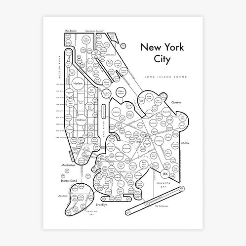 New York City Letterpress Print
