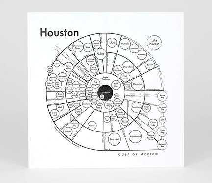 Houston Letterpress Print