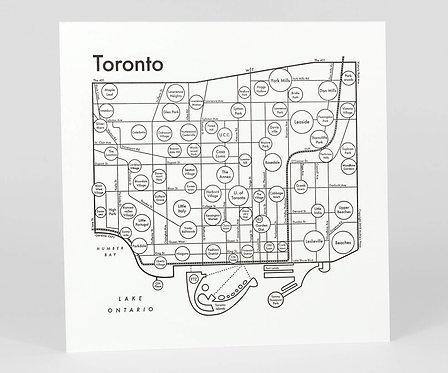 Toronto Letterpress Print