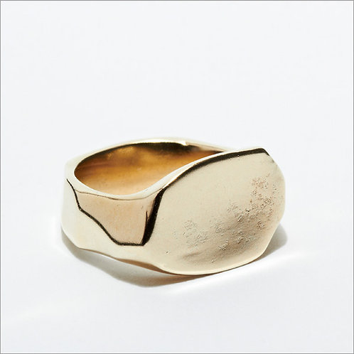 Pounded Signet Ring