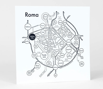 Roma (Rome) Letterpress Print