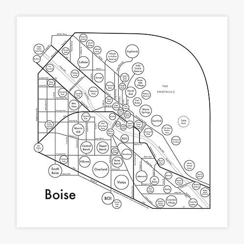Boise Letterpress Print