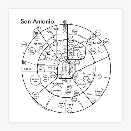 San Antonio Letterpress Print