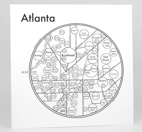 Atlanta Letterpress Print