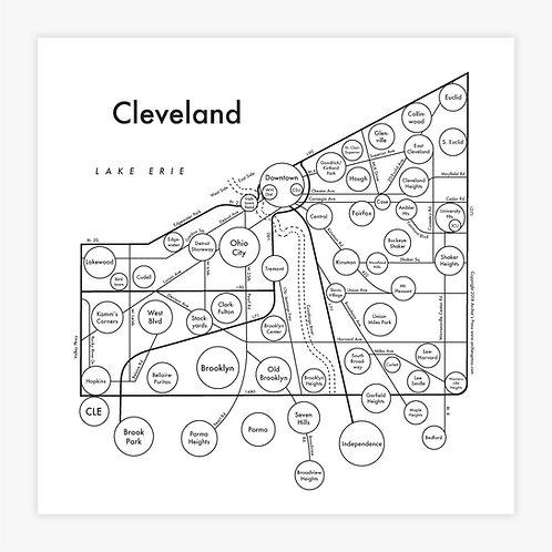 Cleveland Letterpress Print