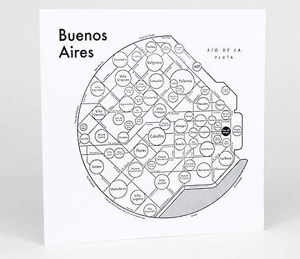 Buenos Aires Letterpress Print