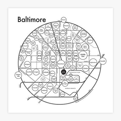 Baltimore Letterpress Print